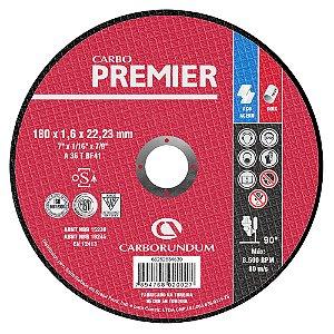 Caixa com 25 Disco de Corte T41 Carbo Premier para Aço 180 x 1,6 x 22,23 mm