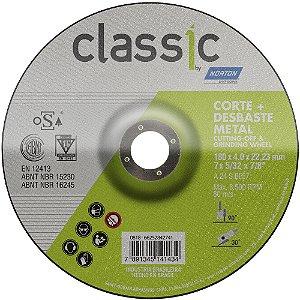 Caixa com 10 Disco de Desbaste Classic Basic BDA403 180 x 4 x 22,23 mm
