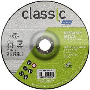 Caixa com 10 Disco de Desbaste Classic Basic BDA600 230 x 6,4 x 22,23 mm