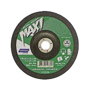Caixa com 10 Disco de Desbaste Maxi BDA670 Grosso 180 x 6,4 x 22,23 mm