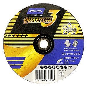 Caixa com 10 Disco de Desbaste Quantum 3 230 x 7 x 22,23 mm