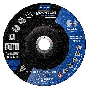 Caixa com 10 Disco de Desbaste Quantum BDA680 115 x 6,4 x 22,23 mm