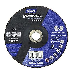 Caixa com 10 Disco de Desbaste Quantum BDA680 180 x 6,44 x 22,23 mm
