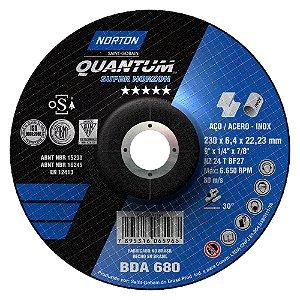 Caixa com 10 Disco de Desbaste Quantum BDA680 230 x 6,4 x 22,23 mm