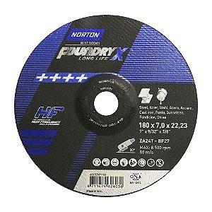 Caixa com 10 Disco de Desbaste Quantum Foundry X 180 x 7,0 x 22,23 mm