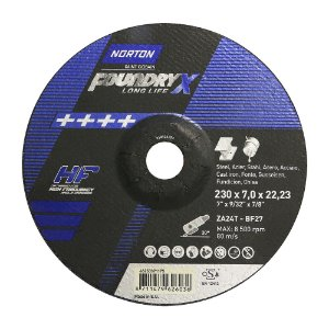 Disco de Desbaste Quantum Foundry X 230 x 7,0 x 22,23 mm Caixa com 10