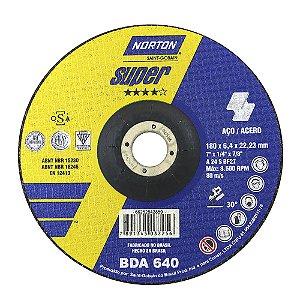 Caixa com 10 Disco de Desbaste Super Aços BDA640 180 x 6,4 x 22,23 mm