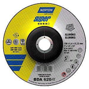 Caixa com 10 Disco de Desbaste Super Alumínio BDA620 180 x 6,4 x 22,23 mm