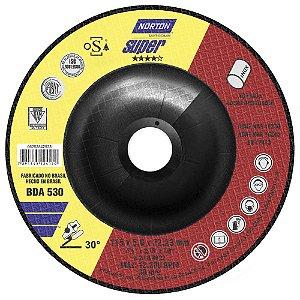 Caixa com 10 Disco de Desbaste Super Inox BDA530 115 x 5 x 22,23 mm