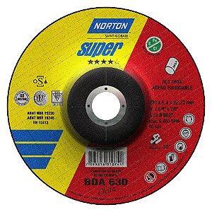 Disco de Desbaste Super Inox BDA630 Clean 230 x 6,4 x 22,23 mm Caixa com 10