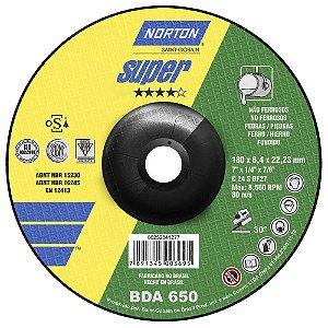 Caixa com 10 Disco de Desbaste Super Não Ferrosos BDA650 180 x 6,4 x 22,23 mm