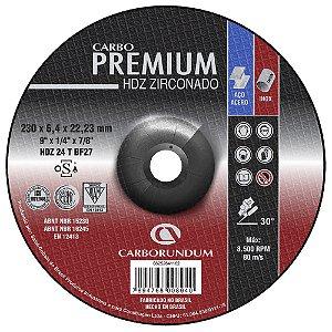 Disco de Desbaste T27 Carbo Flex HDZ 230 x 6,4 x 22,23 mm Caixa com 10