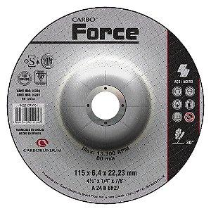 Caixa com 10 Disco de Desbaste T27 Carbo Force 115 x 6,4 x 22,23 mm