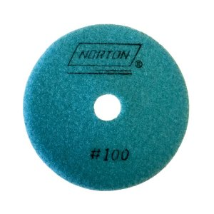 Caixa com 10 Disco de Lixa Diamantada Flexível Brilho D'Água Grão 100 - 100 x 20 mm