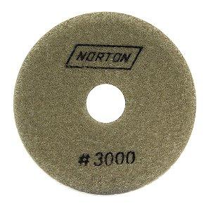Disco de Lixa Diamantada Flexível Brilho D'Água Grão 3000 - 100 x 20 mm Caixa com 10