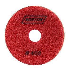 Caixa com 10 Disco de Lixa Diamantada Flexível Brilho D'Água Grão 400 - 100 x 20 mm