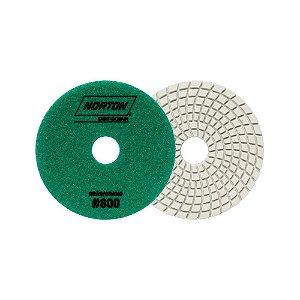 Caixa com 10 Disco de Lixa Diamantada Flexível Brilho D'Água Grão 800 - 100 x 20 mm