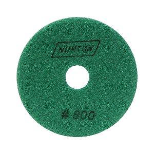 Disco de Lixa Diamantada Flexível Brilho D'Água Grão 800 - 100 x 20 mm Caixa com 10