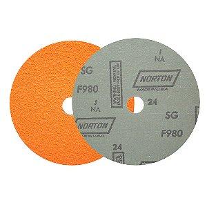 Caixa com 25 Disco de Lixa Fibra Blaze F980 Grão 24 180 x 22 mm