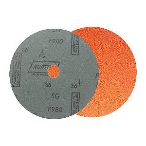 Caixa com 25 Disco de Lixa Fibra Blaze F980 Grão 36 180 x 22 mm