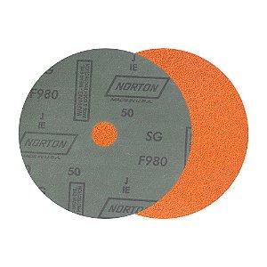 Caixa com 25 Disco de Lixa Fibra Blaze F980 Grão 50 180 x 22 mm