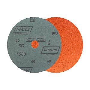Disco de Lixa Fibra Blaze F980 Grão 60 180 x 22 mm Caixa com 25