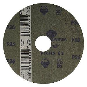 Disco de Lixa Fibra CAR52 Grão 36 115 x 22 mm Caixa com 50