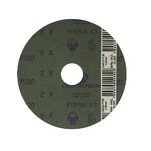 Disco de Lixa Fibra CAR53 Grão 120 115 x 22 mm Caixa com 100