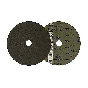 Disco de Lixa Fibra CAR53 Grão 120 180 x 22 mm Caixa com 100