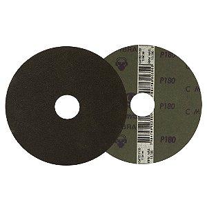 Caixa com 100 Disco de Lixa Fibra CAR53 Grão 180 115 x 22 mm