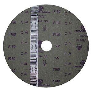Disco de Lixa Fibra CAR53 Grão 180 180 x 22 mm Caixa com 100
