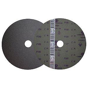 Caixa com 100 Disco de Lixa Fibra CAR53 Grão 180 180 x 22 mm