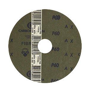 Disco de Lixa Fibra CAR53 Grão 60 115 x 22 mm Caixa com 100