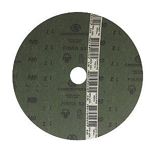 Caixa com 100 Disco de Lixa Fibra CAR53 Grão 60 180 x 22 mm