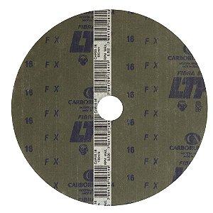 Caixa com 60 Discos de Lixa Fibra CAR55 Grão 16 180 x 22 mm