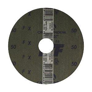 Caixa com 100 Disco de Lixa Fibra CAR55 Grão 50 115 x 22 mm