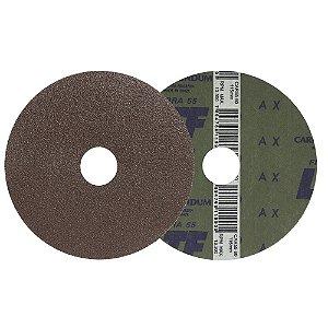 Caixa com 100 Disco de Lixa Fibra CAR55 Grão 60 115 x 22 mm