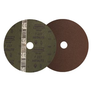 Disco de Lixa Fibra Metalite F227 Grão 100 180 x 22 mm Caixa com 100