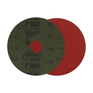 Caixa com 100 Disco de Lixa Fibra Seeded Gel F944 Grão 100 115 x 22 mm