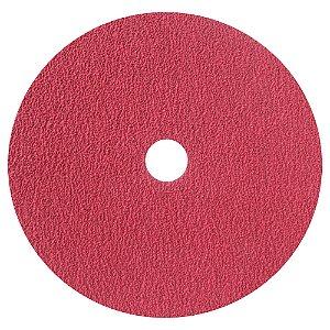 Caixa com 100 Disco de Lixa Fibra Seeded Gel F944 Grão 50 180 x 22 mm