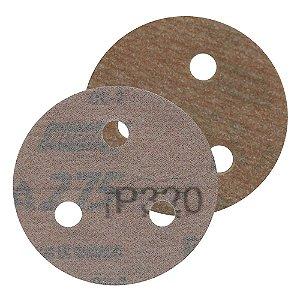 Caixa com 200 Disco de Lixa Pluma A275 com 3 Furos Grão 320 76 x 3 mm