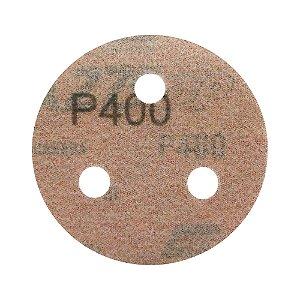 Disco de Lixa Pluma A275 com 3 Furos Grão 400 76 x 3 mm Caixa com 200