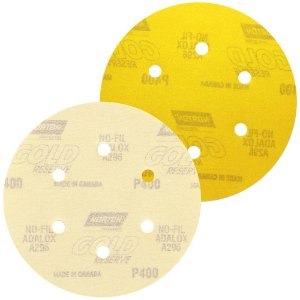 Disco de Lixa Pluma A296 Gold com 6 Furos Grão 400 152 x 0 x 6 mm Caixa com 100