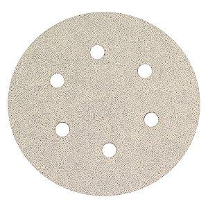 Disco de Lixa Pluma A319 com 6 Furos Grão 40 152 x 0 x 6 mm Caixa com 50