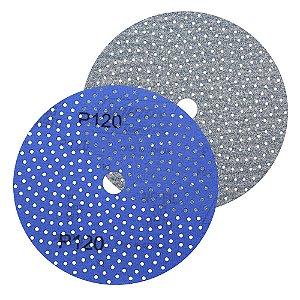 Caixa com 50 Discos de Lixa Pluma Multiair Cyclonic A975 Grão 120 152 x 18 mm