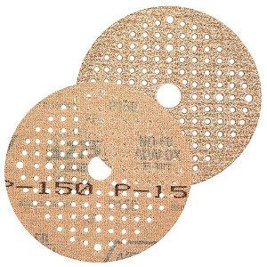 Caixa com 100 Disco de Lixa Pluma Multiair NorGrip A275 Grão 150 125 x 18 x 123 mm