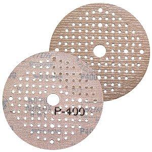 Caixa com 100 Disco de Lixa Pluma Multiair NorGrip A275 Grão 400 125 x 18 x 123 mm