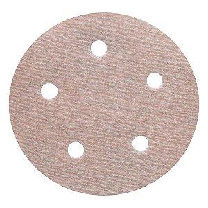 Disco de Lixa Pluma Speed-Grip A275 com 5 Furos Grão 500 127 x 0 x 5 mm Caixa com 100