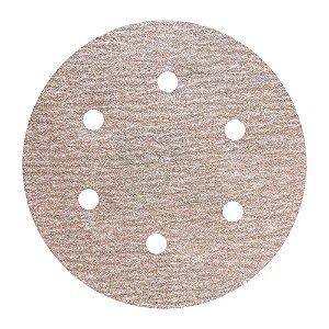 Caixa com 100 Disco de Lixa Pluma Speed-Grip A275 com 6 Furos Grão 150 152 x 0 x 6 mm