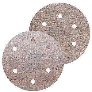 Caixa com 100 Disco de Lixa Pluma Speed-Grip A275 com 6 Furos Grão 320 152 x 0 x 6 mm